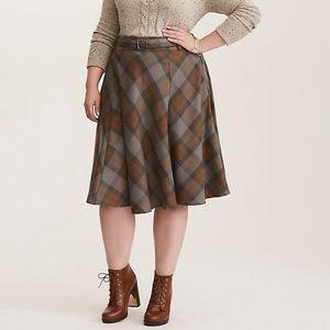 Torrid Outlander Tartan Retro Plaid Skirt NEW